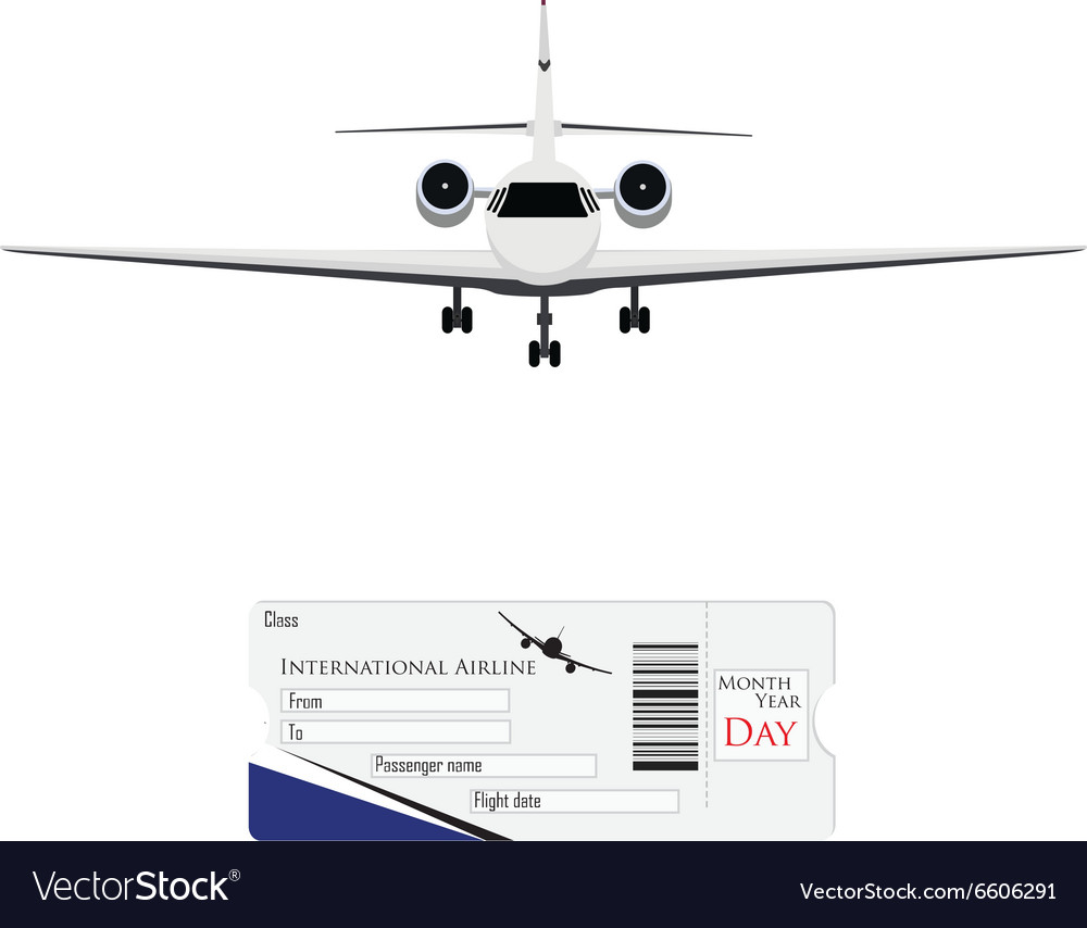 Airplane and ticket