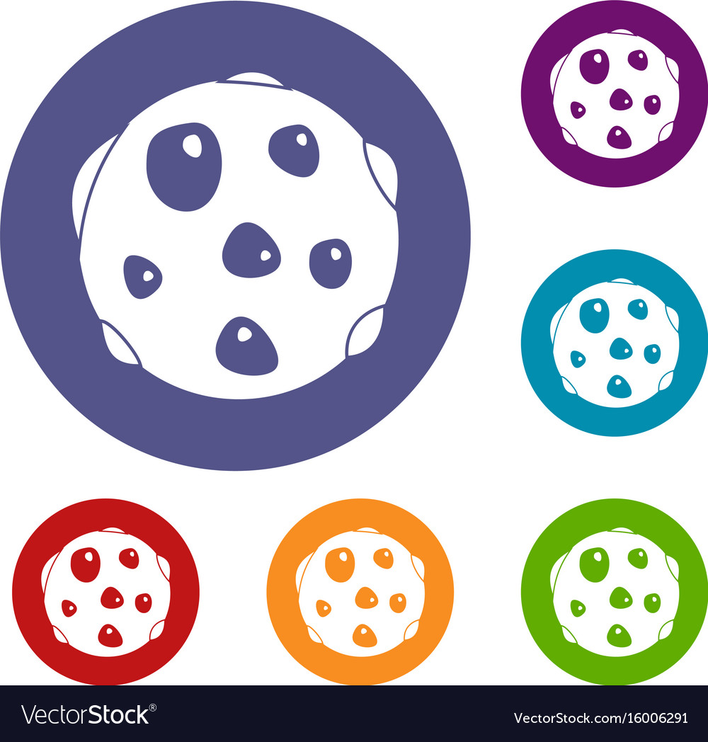 Alone planet icons set vector image