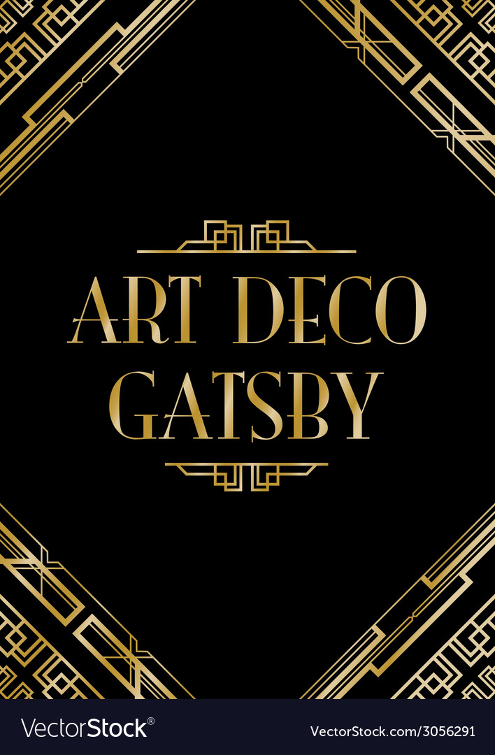 art deco gatsby wedding invite royalty free vector image