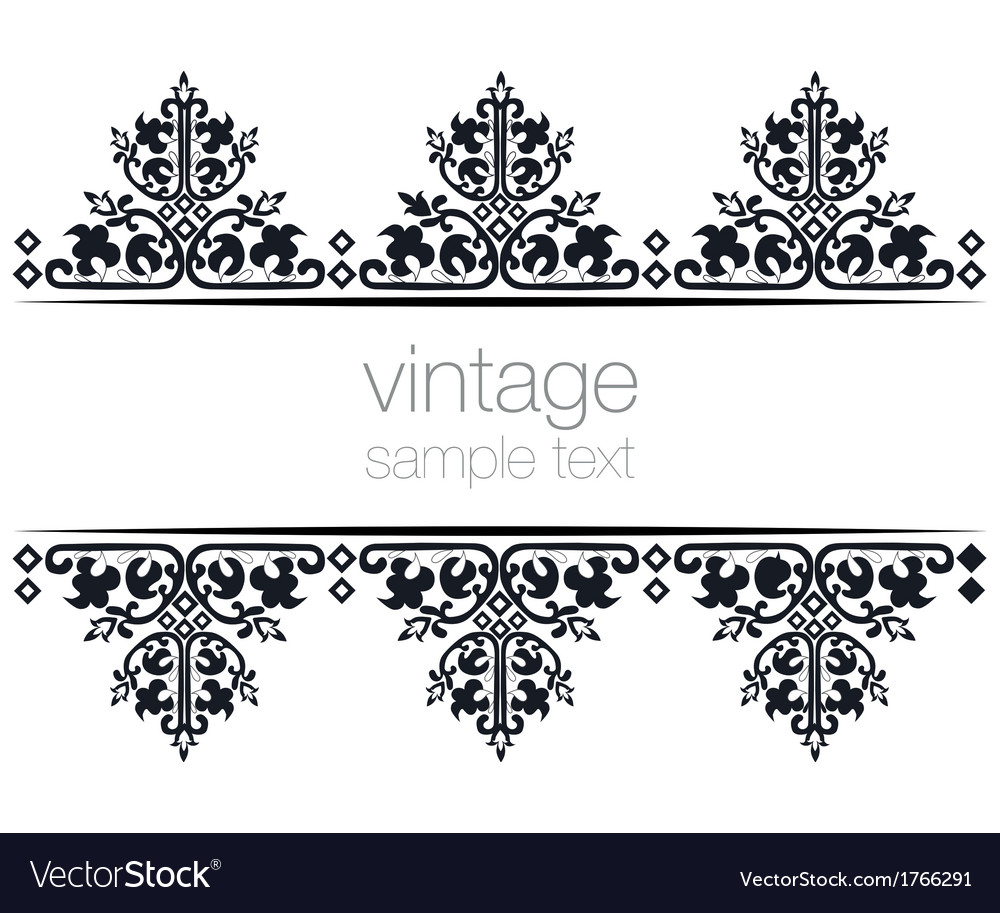 Black ornate vintage frames Royalty Free Vector Image