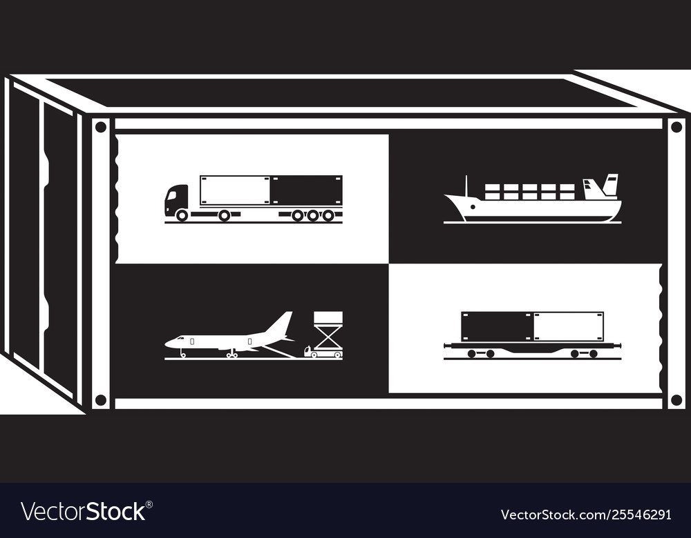 Cargo container with different transportations