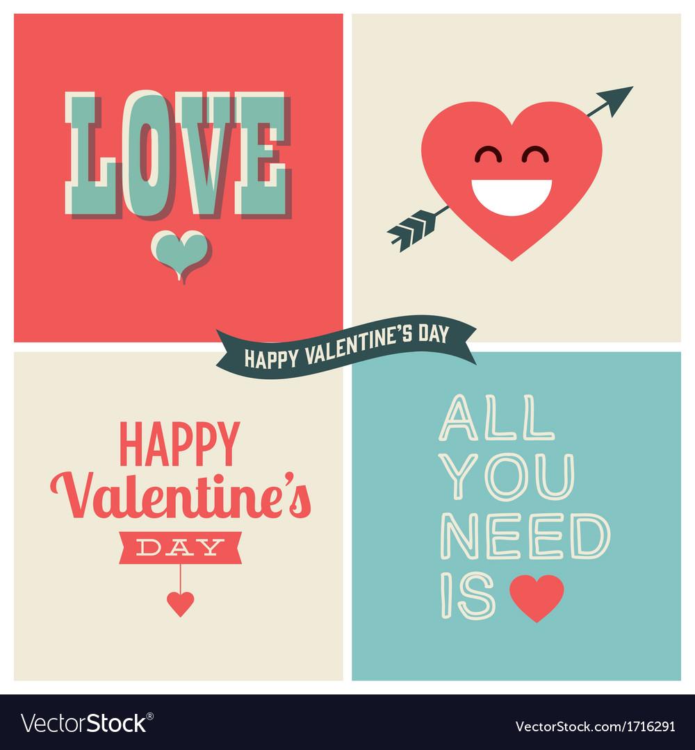 Design elements valentine day set one vector image