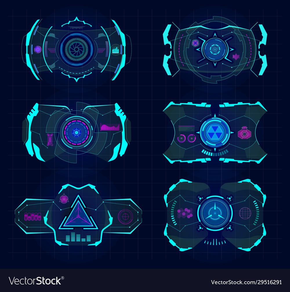 Futuristic virtual screen hud technology frame