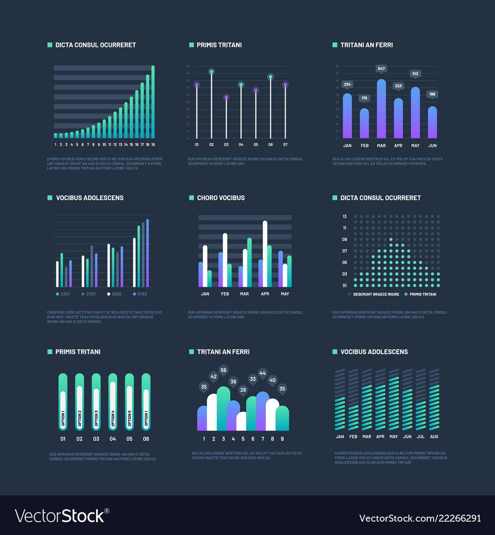 Infographic elements data visualization graphs
