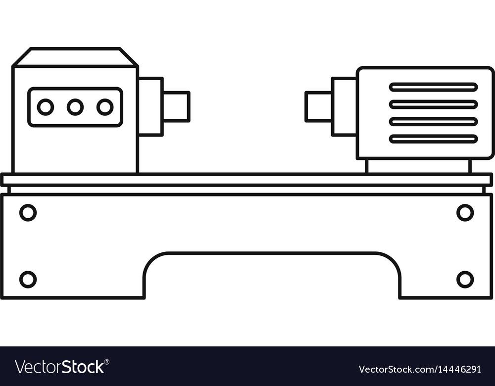 Lathe machine icon outline style