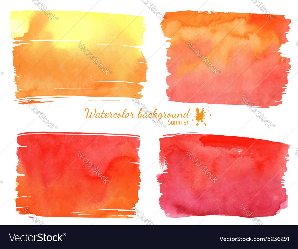 Red and orange watercolor banner
