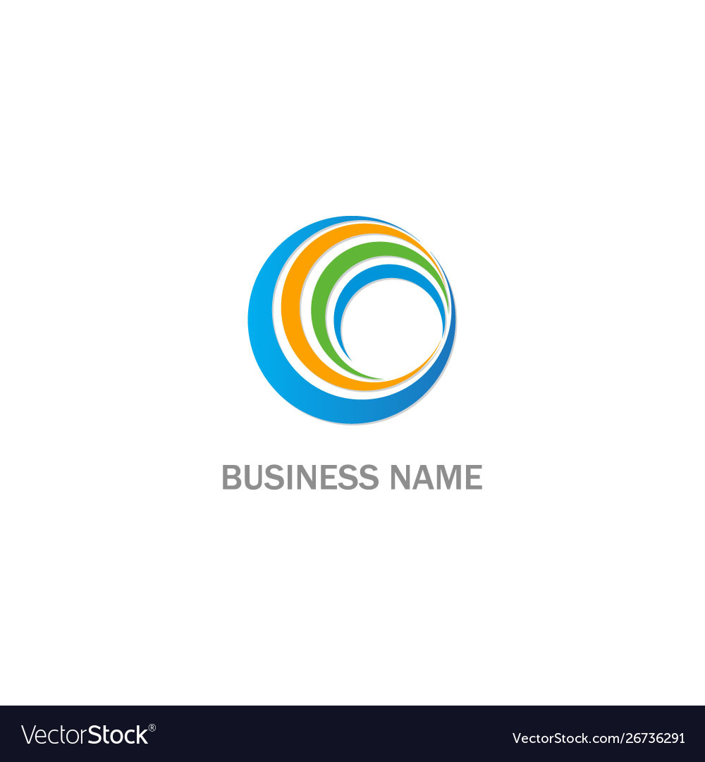 Round circle abstract technology business logo