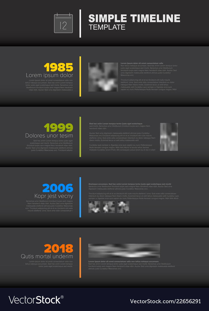 simple vertical timeline template royalty free vector image