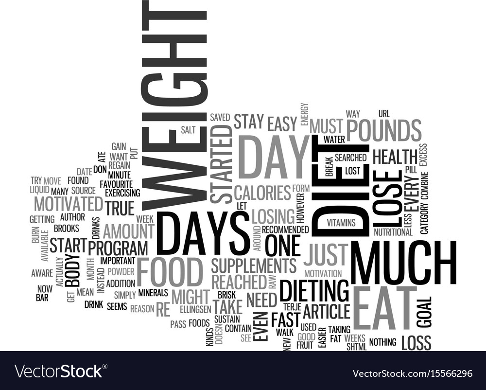 a one day diet let you diet every other day text vector image