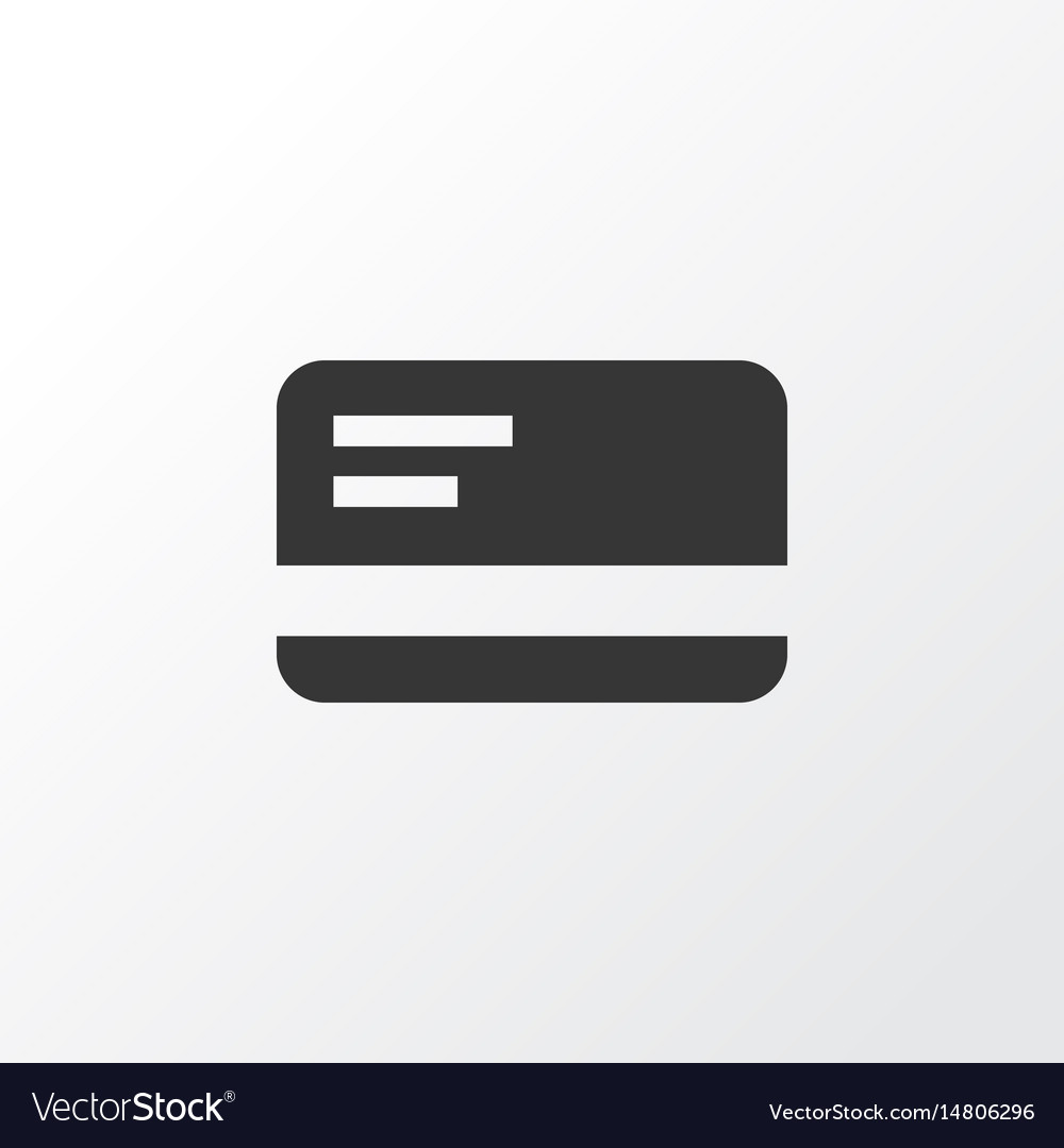 Bank card icon symbol premium quality isolated vector image