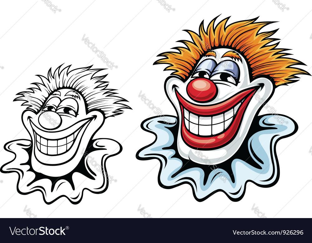 cartoon circus clown royalty free vector image rh vectorstock com clown vectoriel gratuit clown vector png