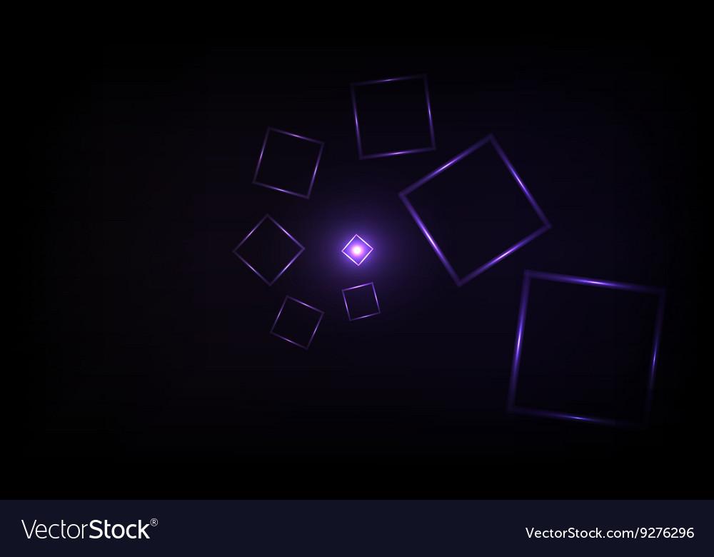 Neon squares design