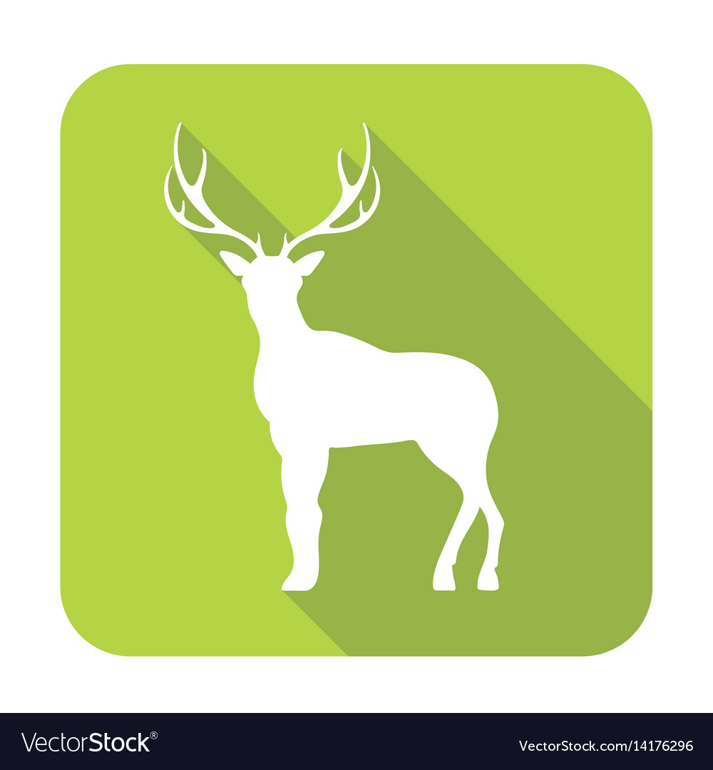 Silhouette of the deer vector image
