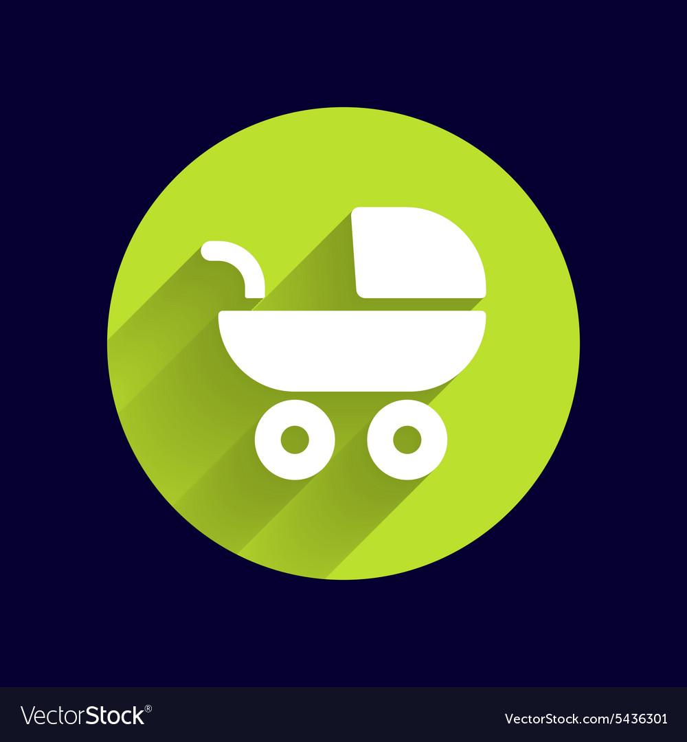 Baby stroller icon maternity wheel