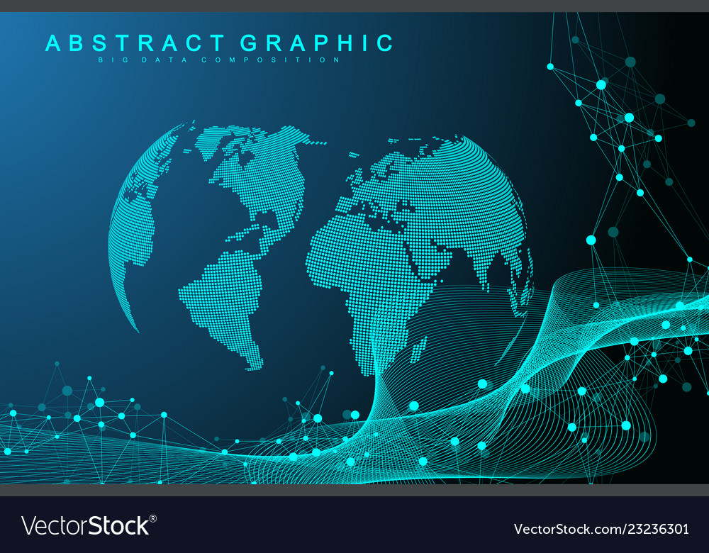 Big data visualization graphic abstract