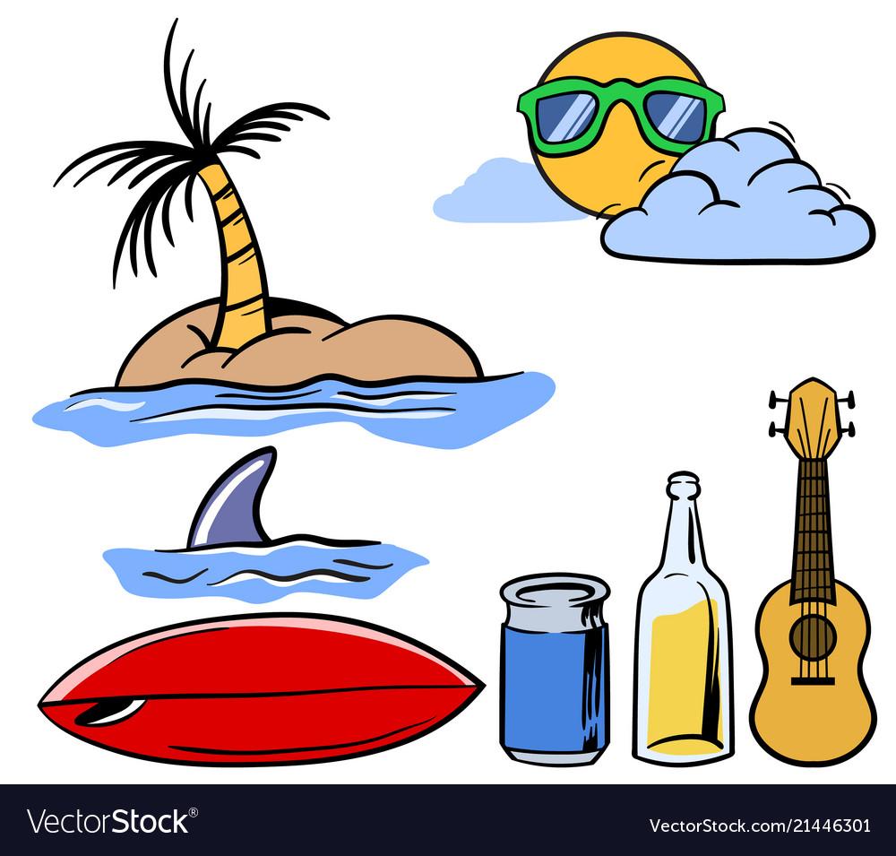 Holiday beach theme stuff set