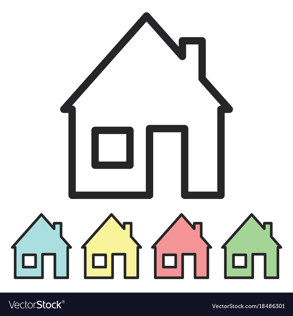 Icon house stylized home logo a minimal set of vector image