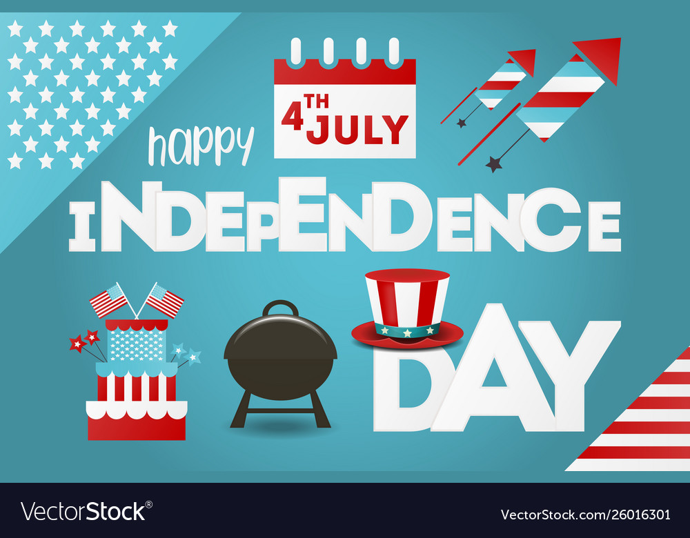Independence day greeting card fourth july