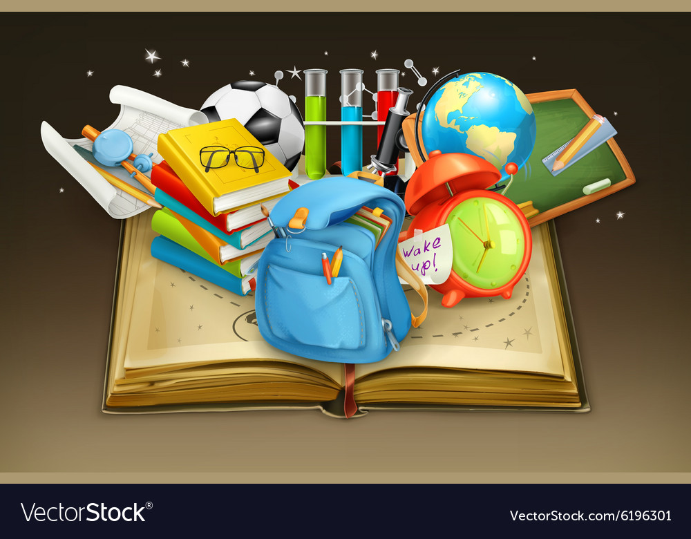 School and book background