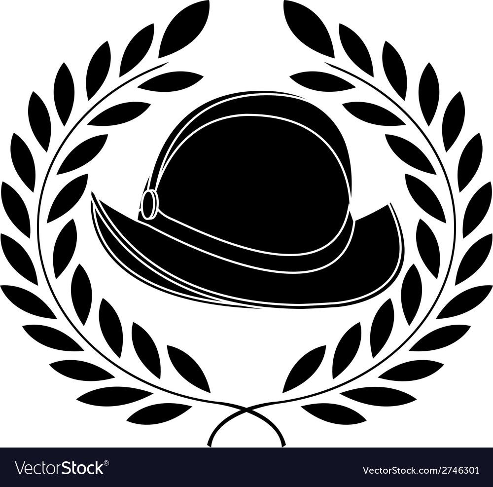 Stencil of conquista helmet vector image