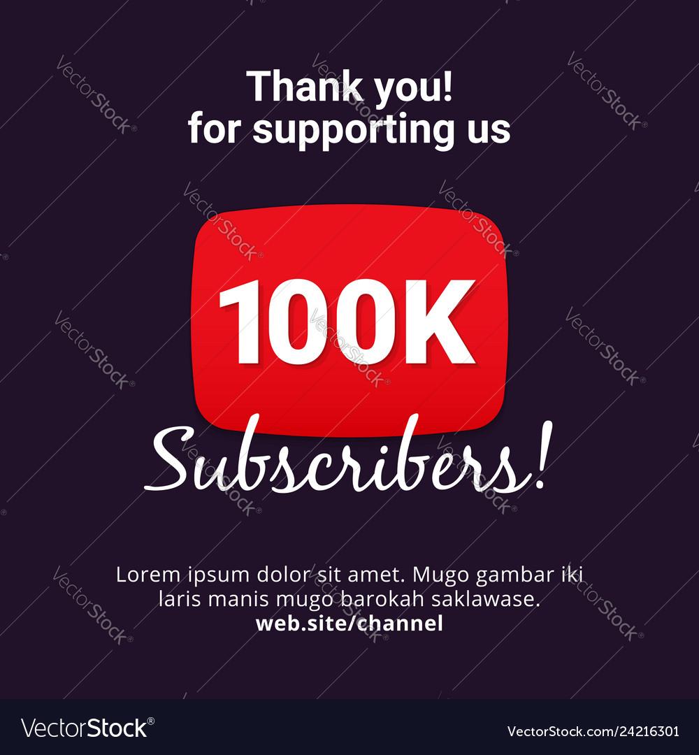Thanks 100k subscribers celebration background