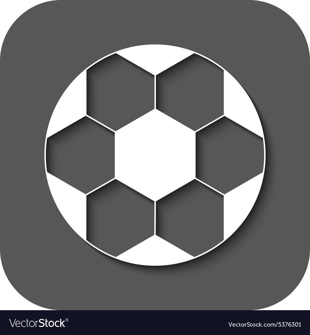 The football icon Soccer symbol Flat