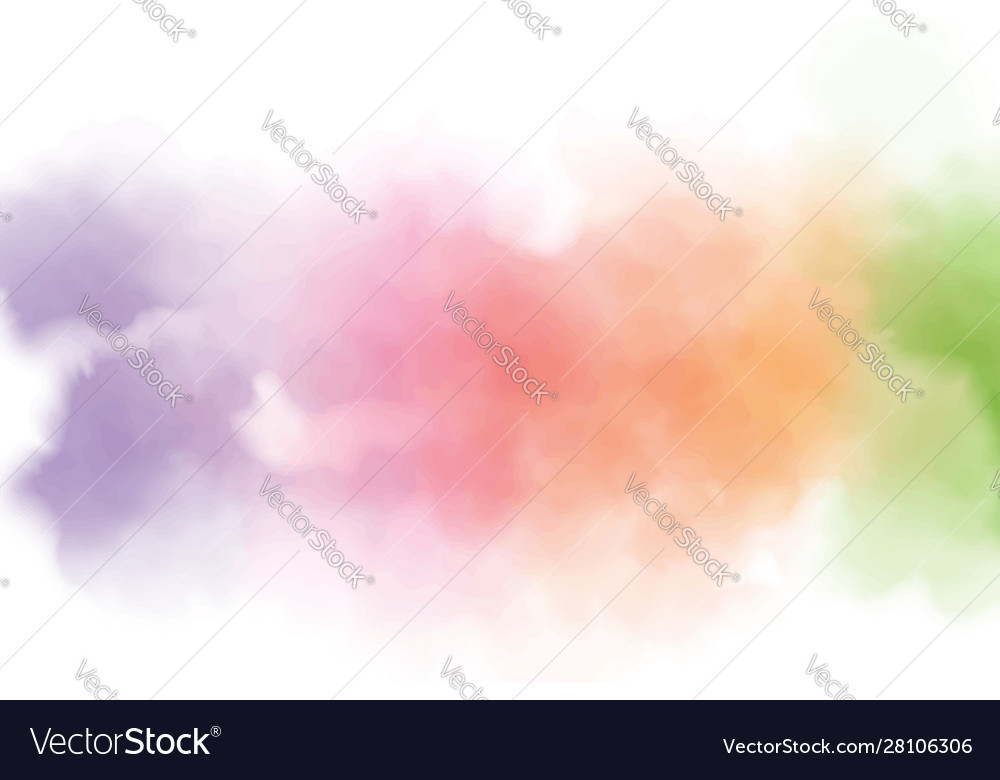 Colorful rainbow watercolor wet splash background