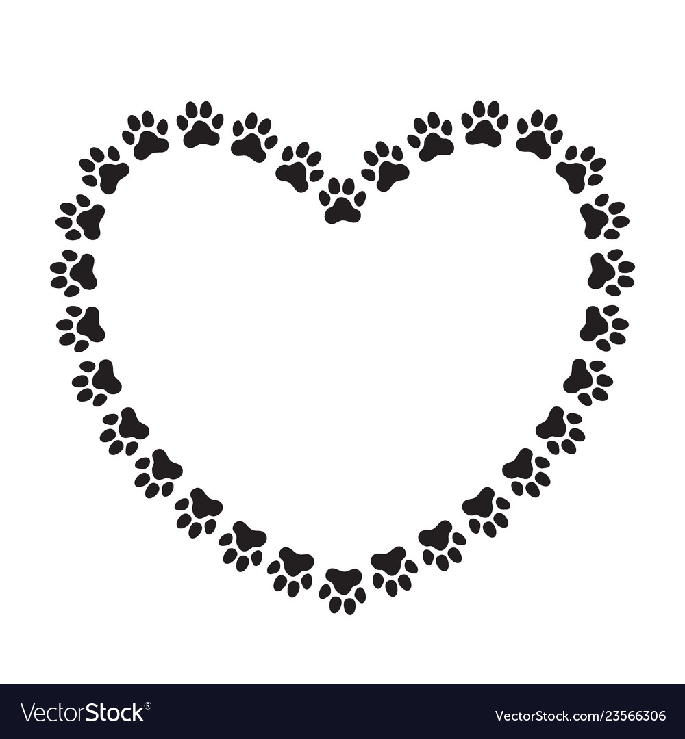 Heart Shaped Frame Made Paw Prints Royalty Free Vector Image Download 7,666 paw print free vectors. https www vectorstock com royalty free vector heart shaped frame made paw prints vector 23566306