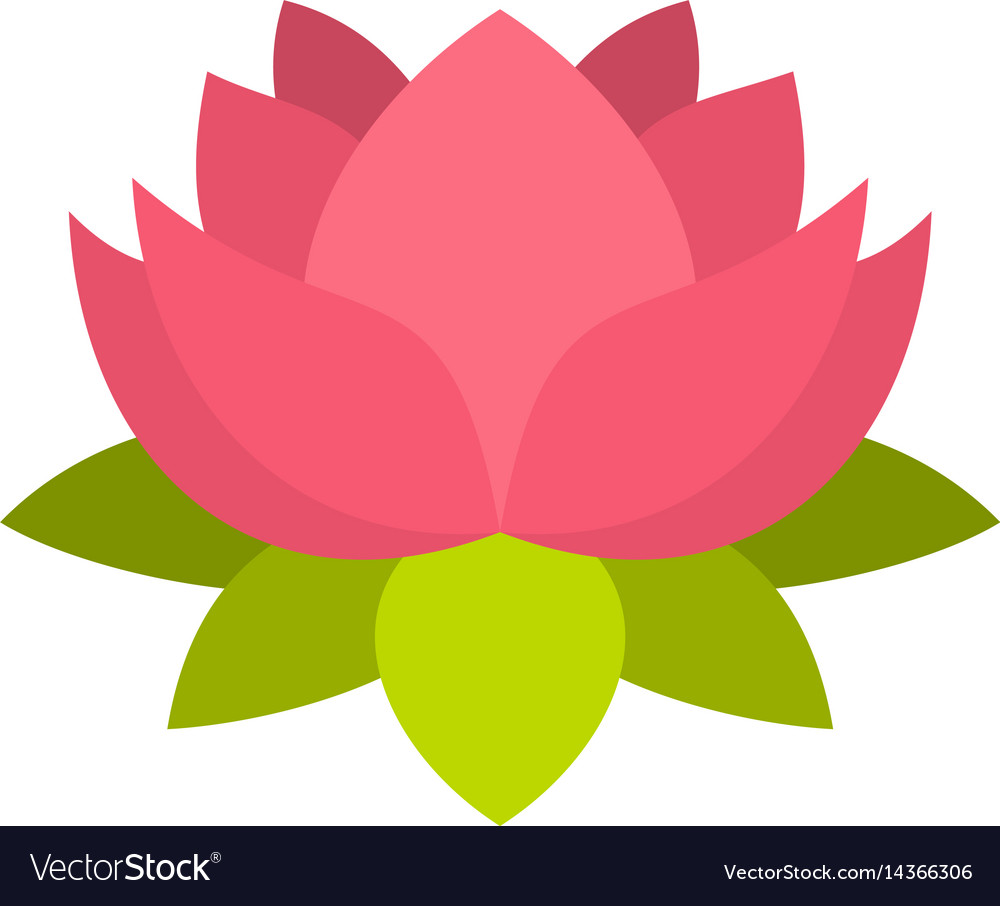 Pink lotus flower icon isolated royalty free vector image pink lotus flower icon isolated vector image mightylinksfo