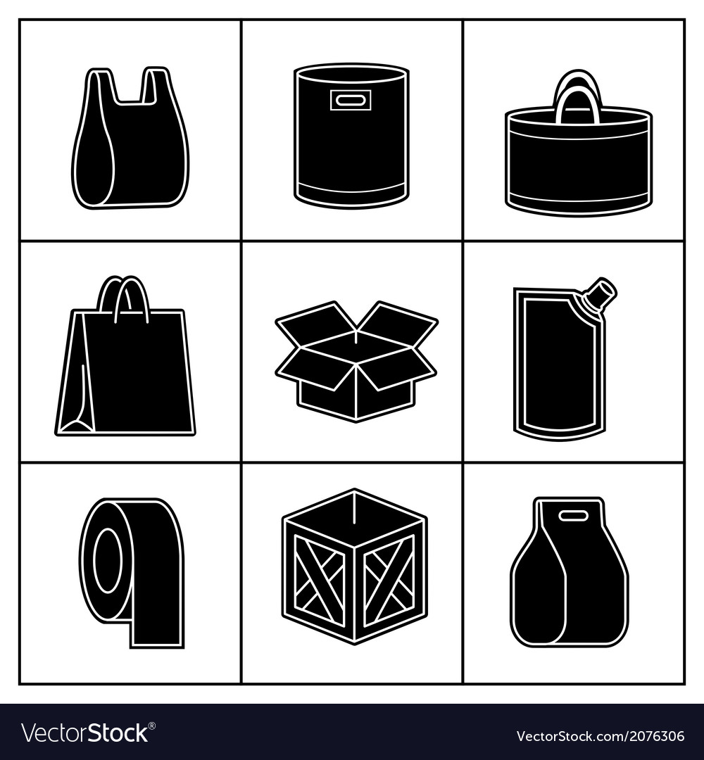 Set of package icons