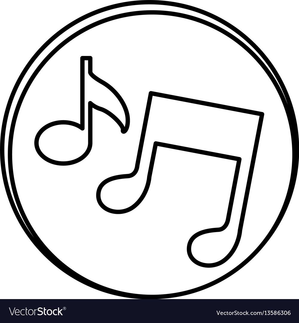 Silhouette symbol music sign icon