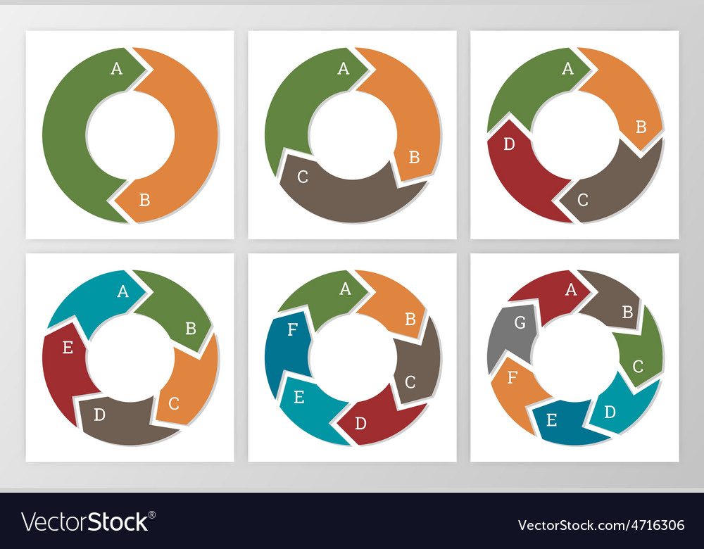 Template for diagram graph presentation and chart vector image
