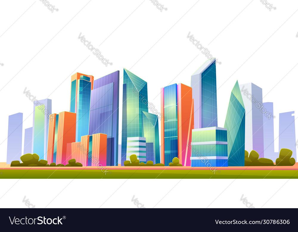 Urban building skyline panoramic banner