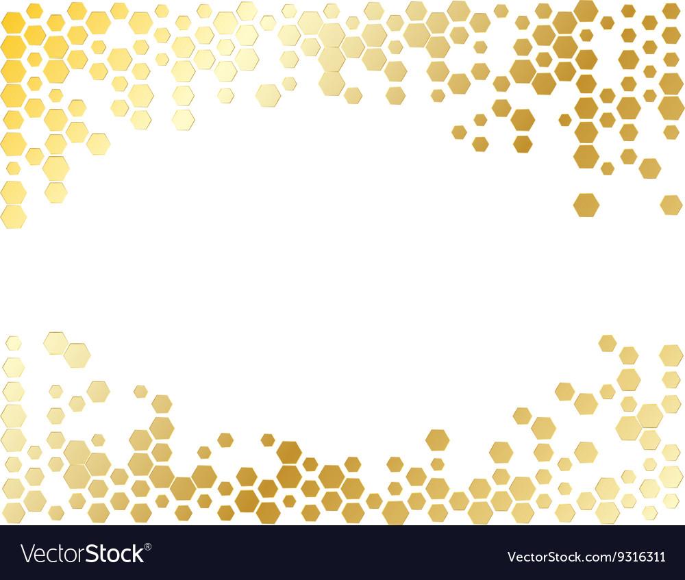 Abstract Hexagon Background Light Pattern