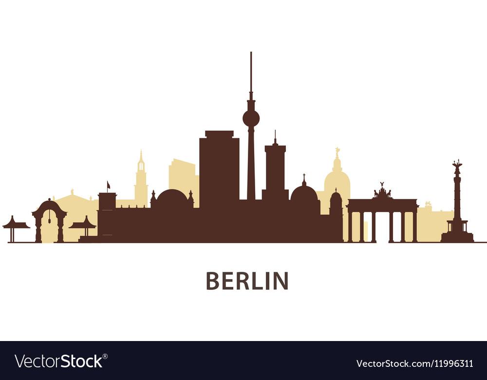 Berlin skyline silhouette