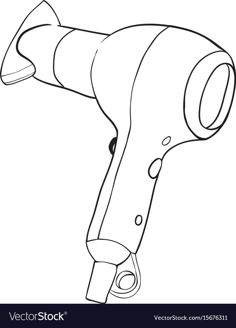 Cartoon image of hair dryer