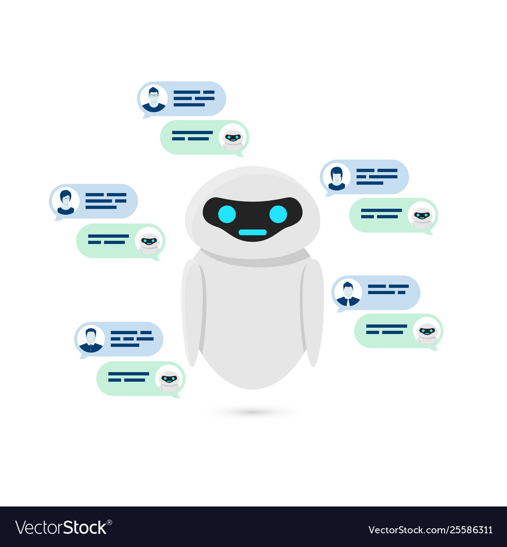 Chatbot concept bot or robot give answer for user