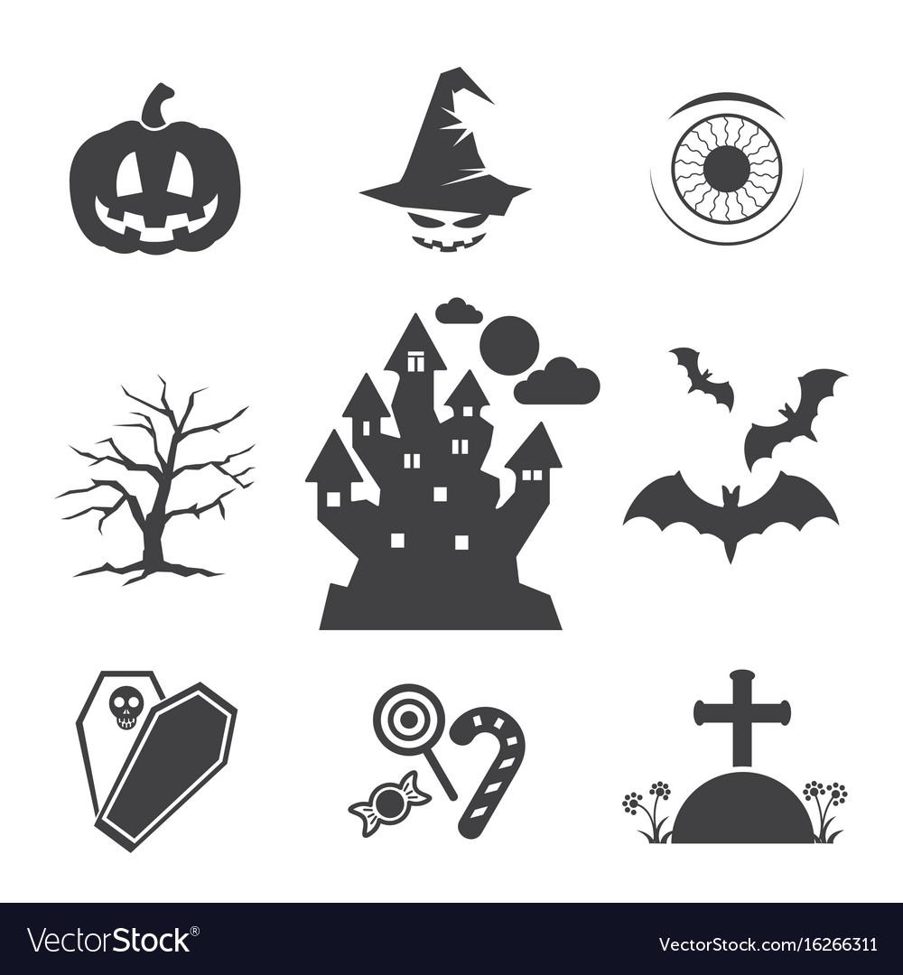 Halloween black icons