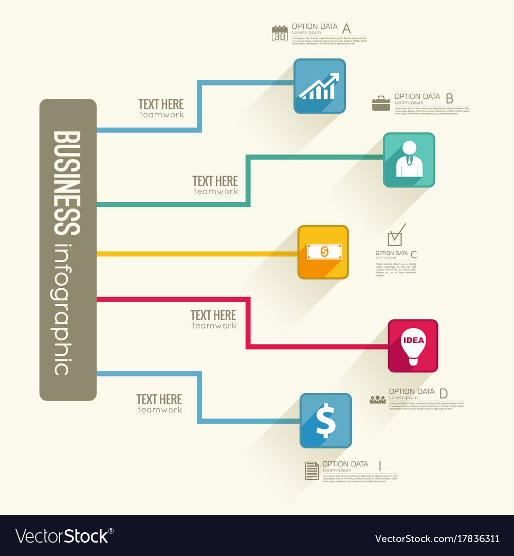 Infographic business flowchart template royalty free vector infographic business flowchart template vector image wajeb
