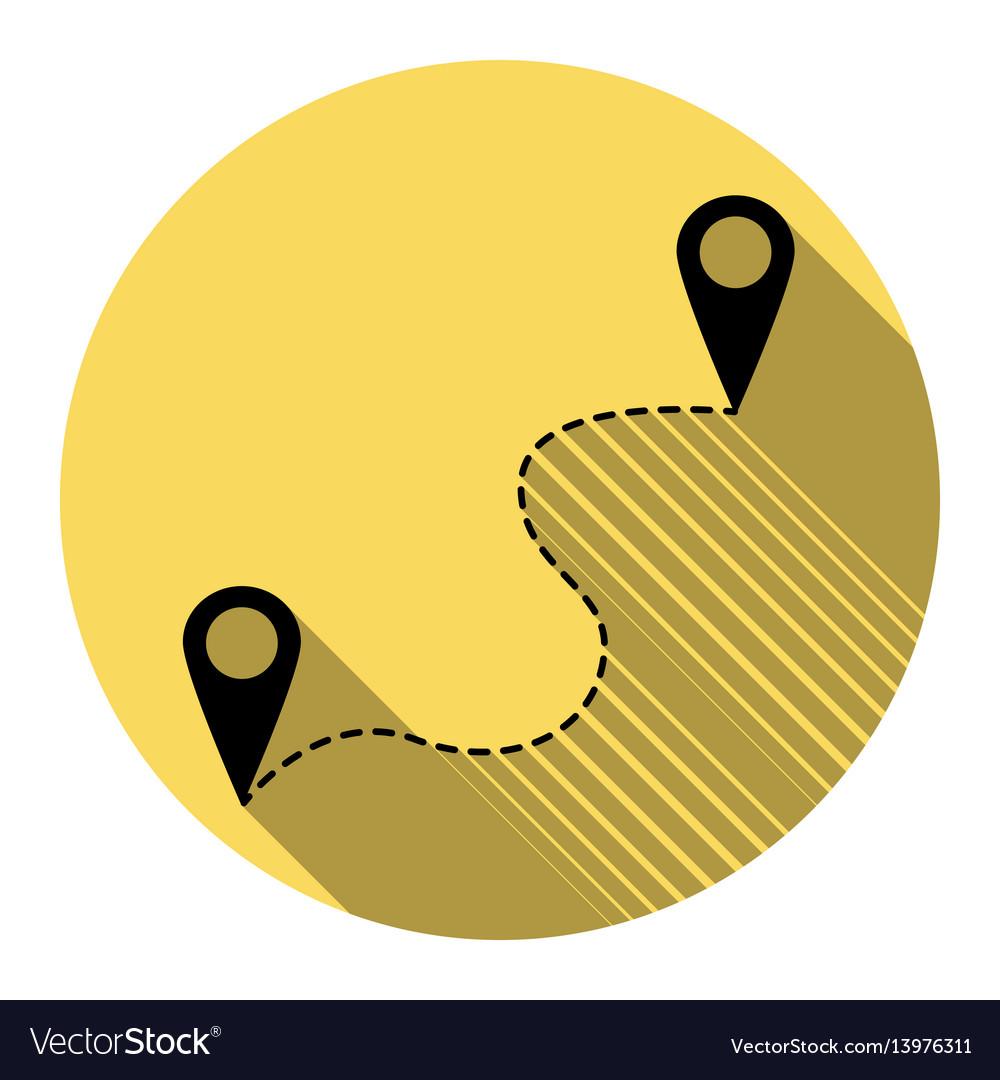 Location pin navigation map gps sign