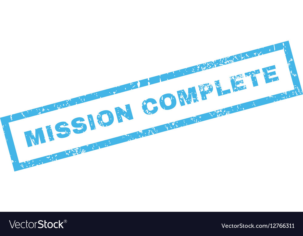 Mission Complete Rubber Stamp vector image