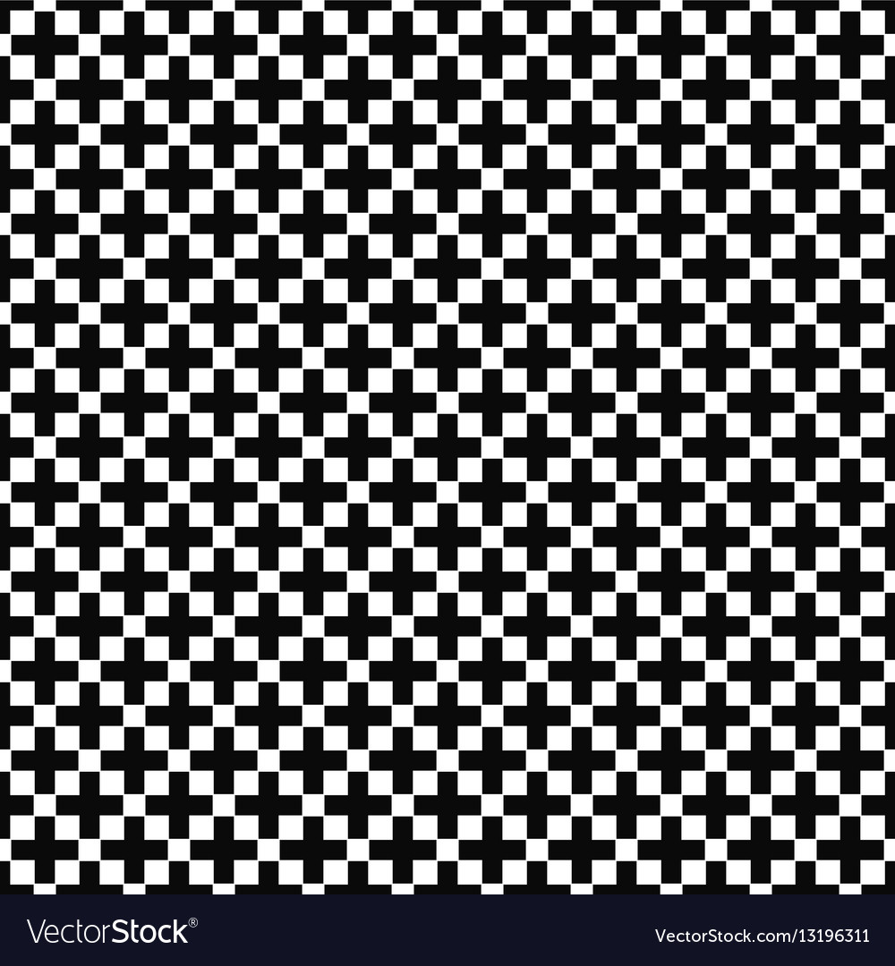 Seamless black and white greek cross pattern
