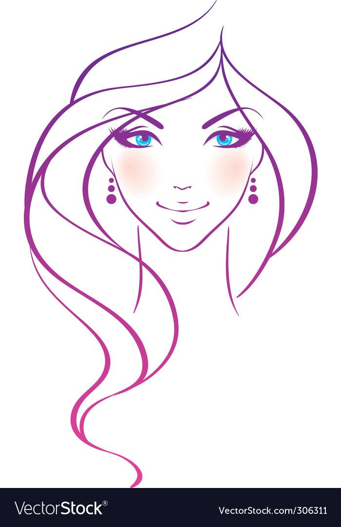 Women beauty hair vector image