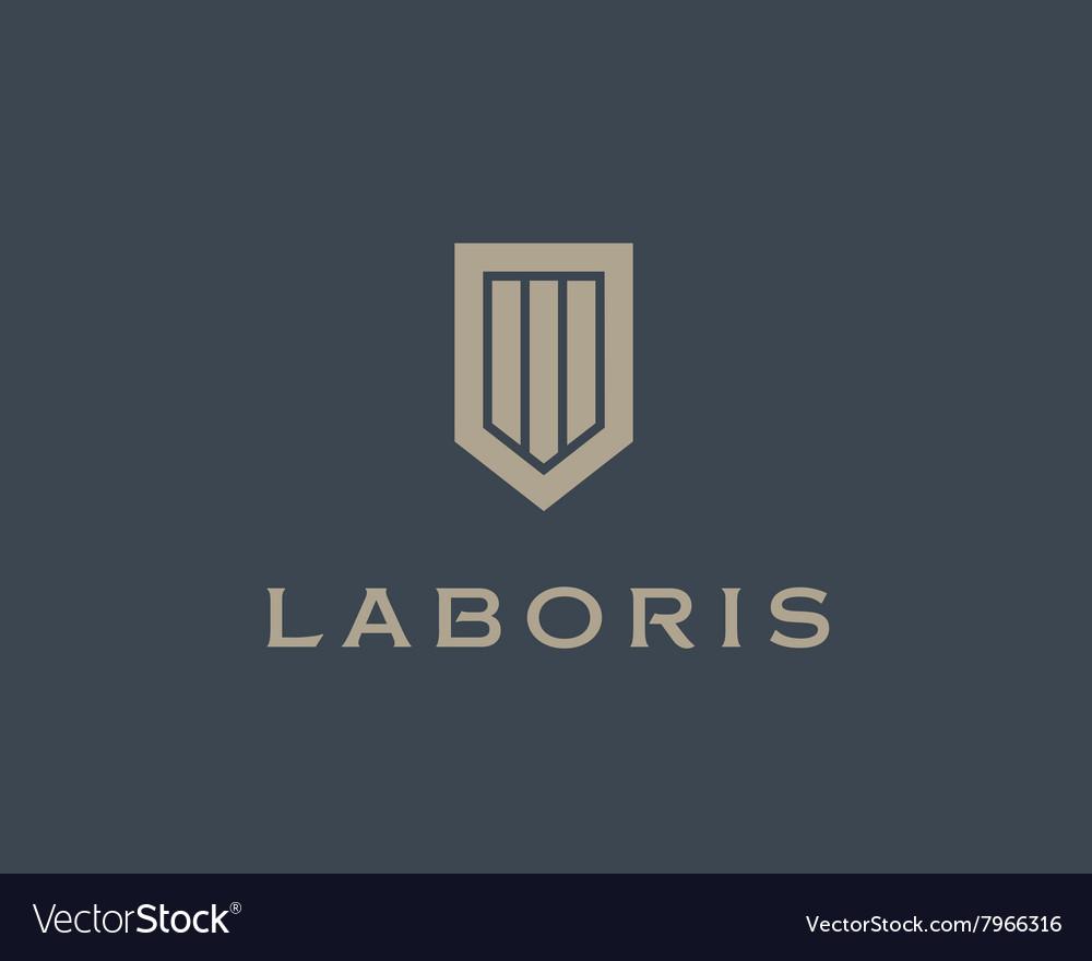 Abstract shield logo design template Premium vector image