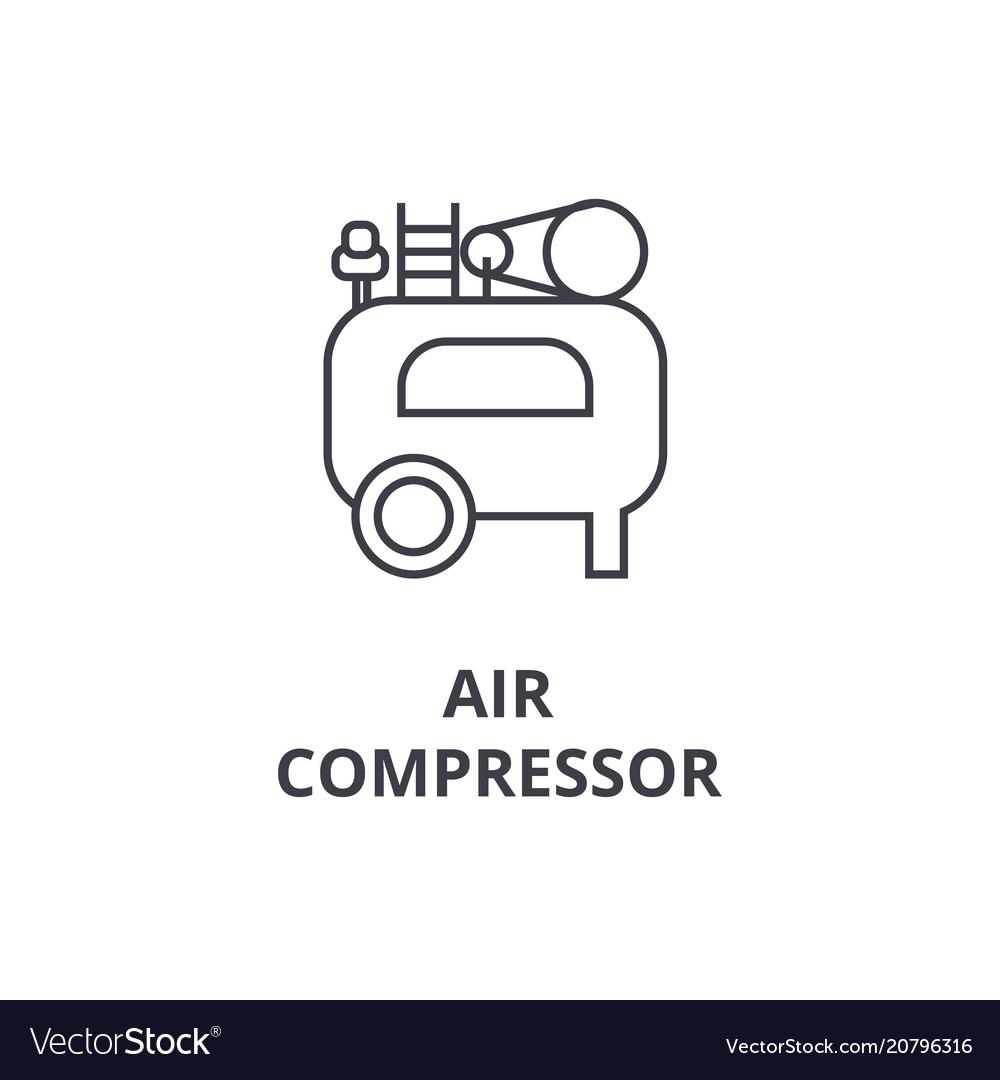 Air Compressor Icon Sign Royalty Free Vector Image