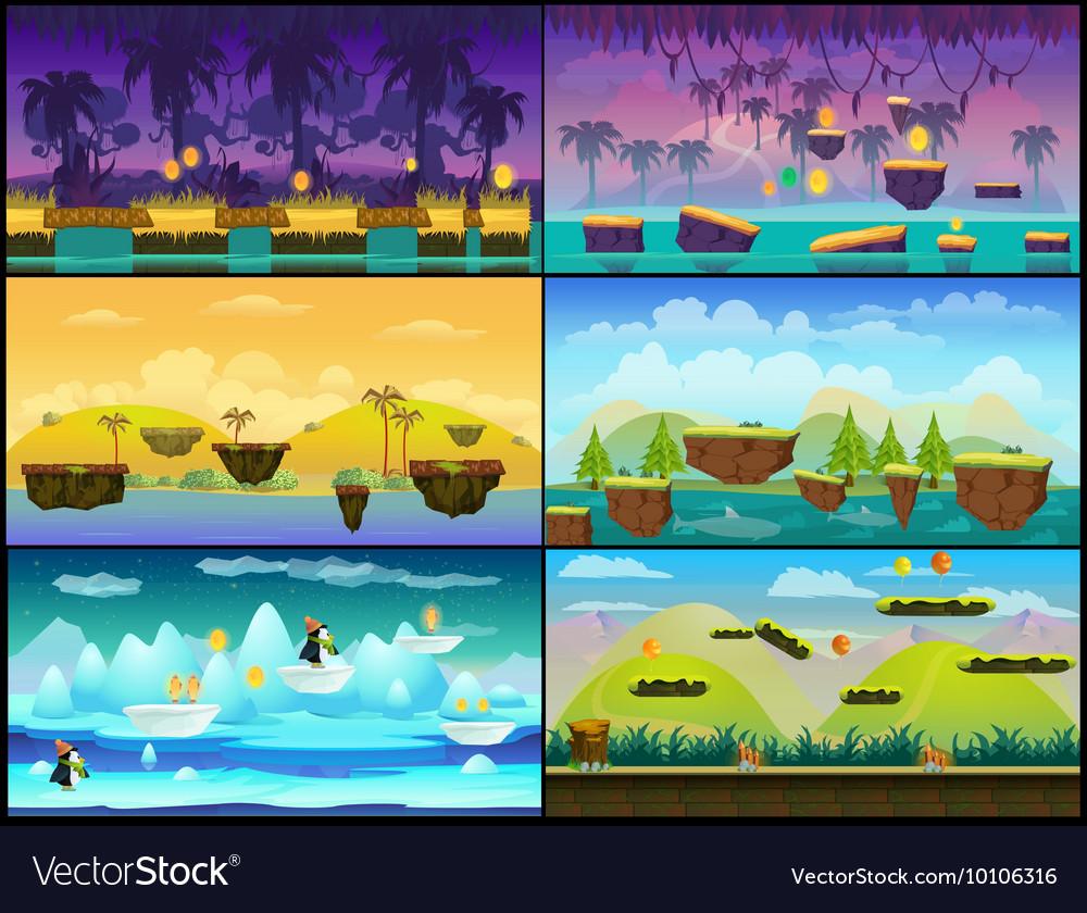 Game background seamless set