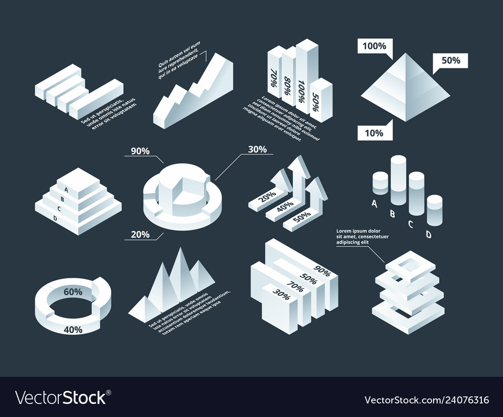 Graphic isometric infographic business diagram