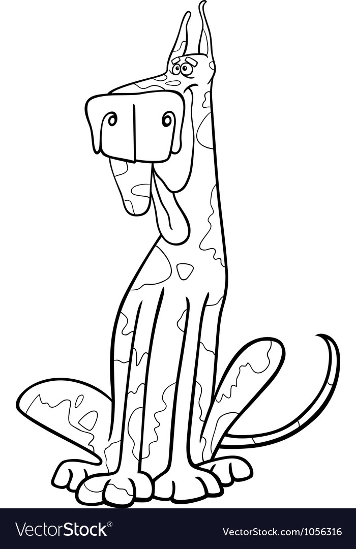 Harlequin dog cartoon for coloring
