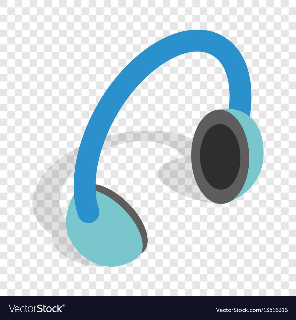 Headphones isometric icon