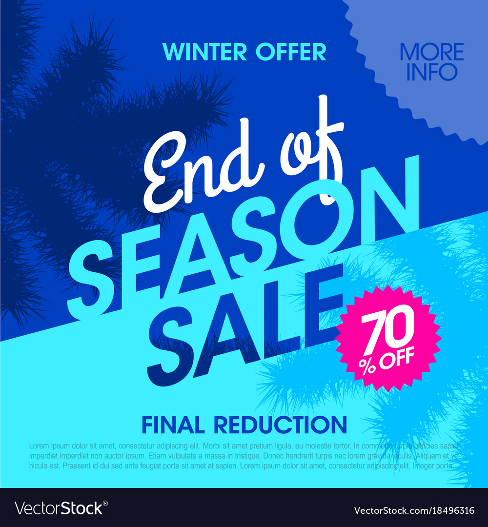 f614a1db0d5 Winter offer end of season sale banner Royalty Free Vector